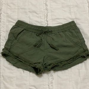 Olive green shorts
